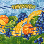 My Fruit Bowl 30x60cm oil on cavas 1998