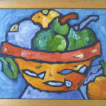 Fruit bowl oil on canvas 2000