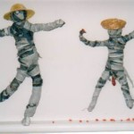Harmony Day textile class - making figures out of rags with Sheryl Osborn - Artist